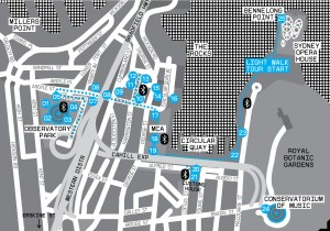 Smart Light Sydney 2009 light walk map.