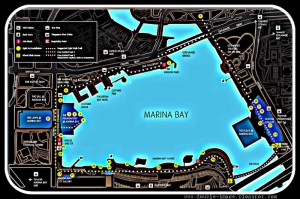 iLight Marina Bay 2012, map of lightworks (URA).